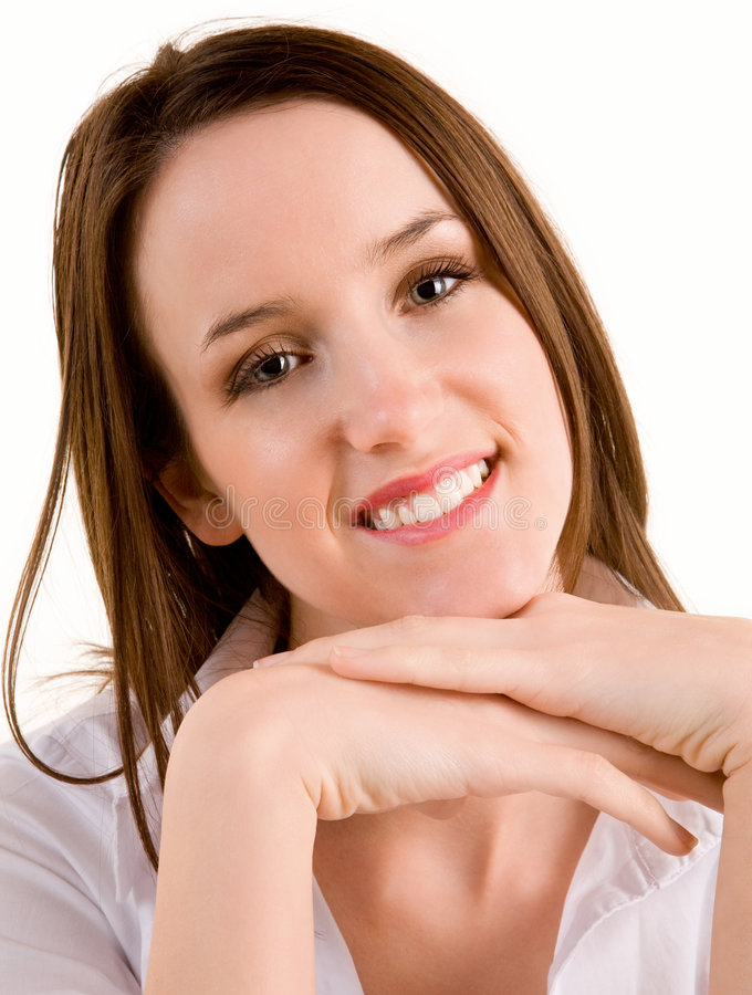 Download Beautiful Smiling Young Brunette Stock Photo - Image: 4263310