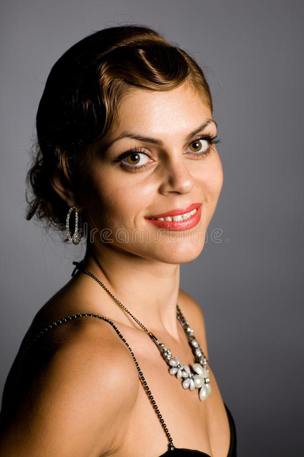 Beautiful Smiling Young Woman Stock Photography
