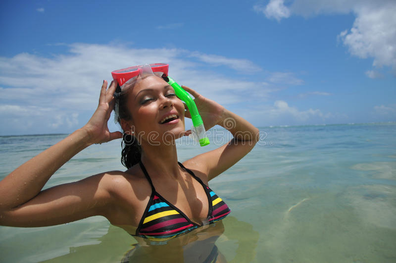 Beautiful Snorkel Stock Photography