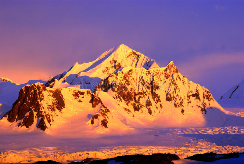 Beautiful snow-capped mountains royalty free stock photography