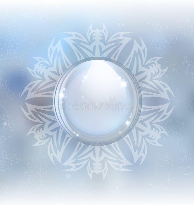 Beautiful snow globe vector illustration