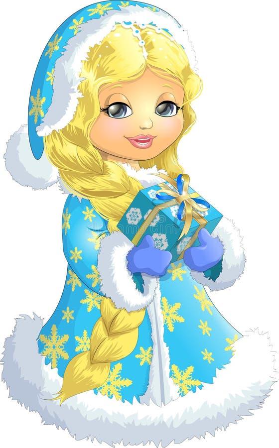 Free Beautiful Snow Maiden On A White Background Stock Photos - 63986153