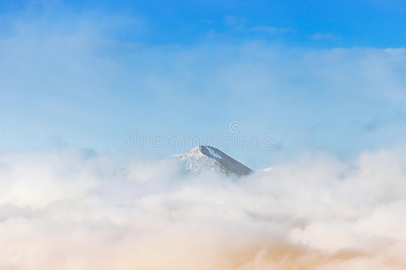 Beautiful snow mountain landscape stock photos