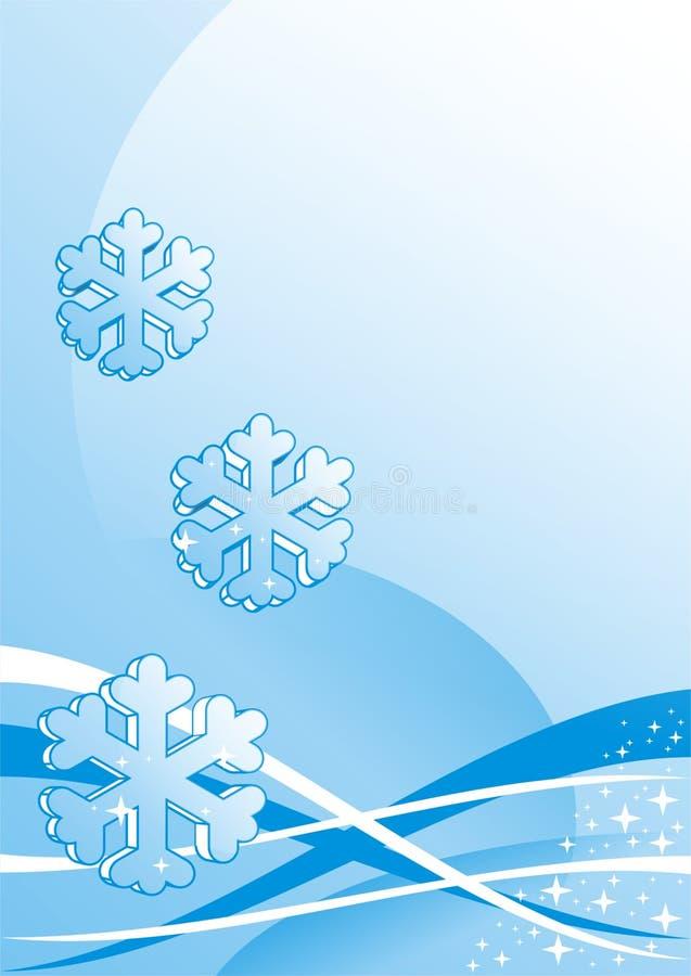 Beautiful snowflakes stock photo