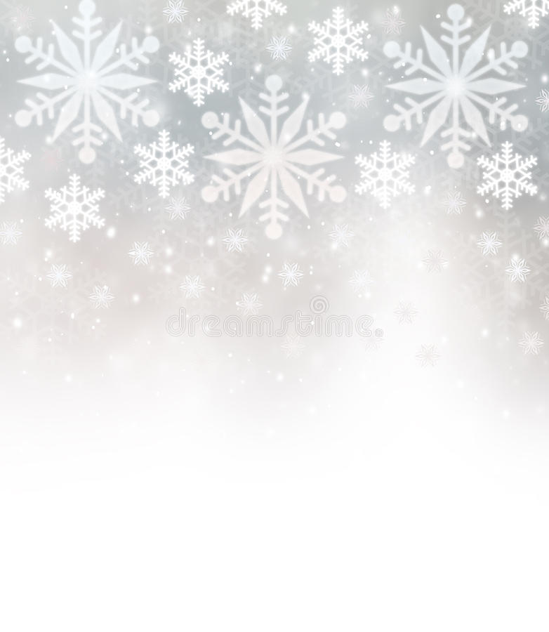 Beautiful snowflakes border royalty free stock photography