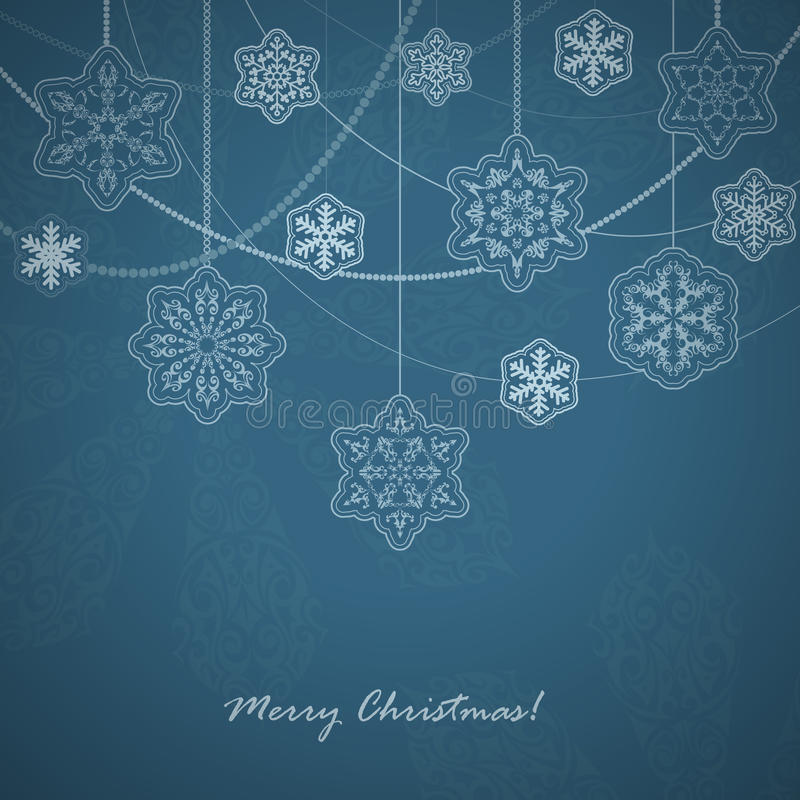 Free Beautiful Snowflakes Card. Royalty Free Stock Image - 35871196