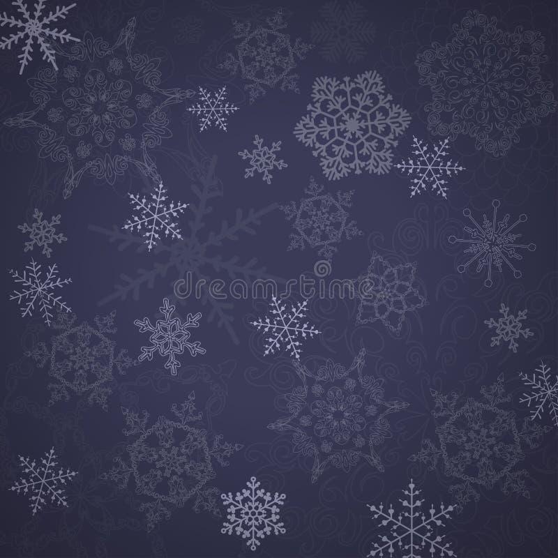 Free Beautiful Snowflakes Pattern. Royalty Free Stock Photo - 35871035