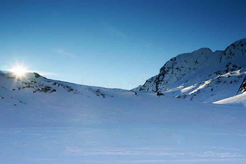 Beautiful snowscape royalty free stock photos