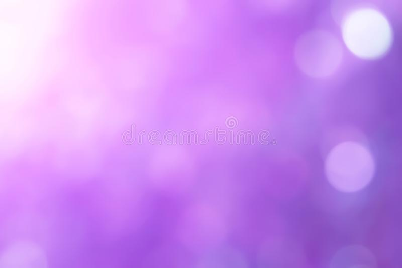 Beautiful soft blur colorful ultra violet background. Beautiful soft blur defocused and colorful ultra violet or purple Bokeh lights in nature blur background royalty free stock photos