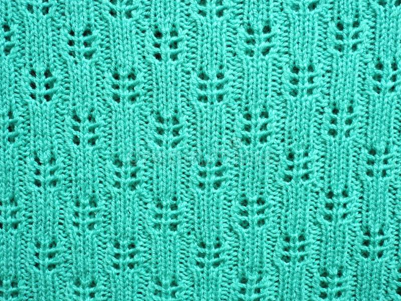 Green soft knitted surface texture royalty free stock image
