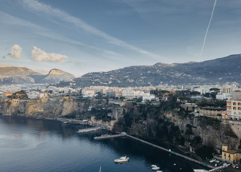 Beautiful Sorrento coast. Aerial view of Sorrento,Campania,Italy stock images