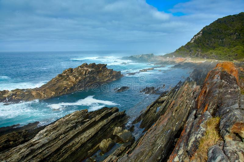 Beautiful south african coastline stock image