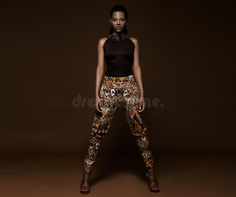 Beautiful south African woman with bronze stock photos