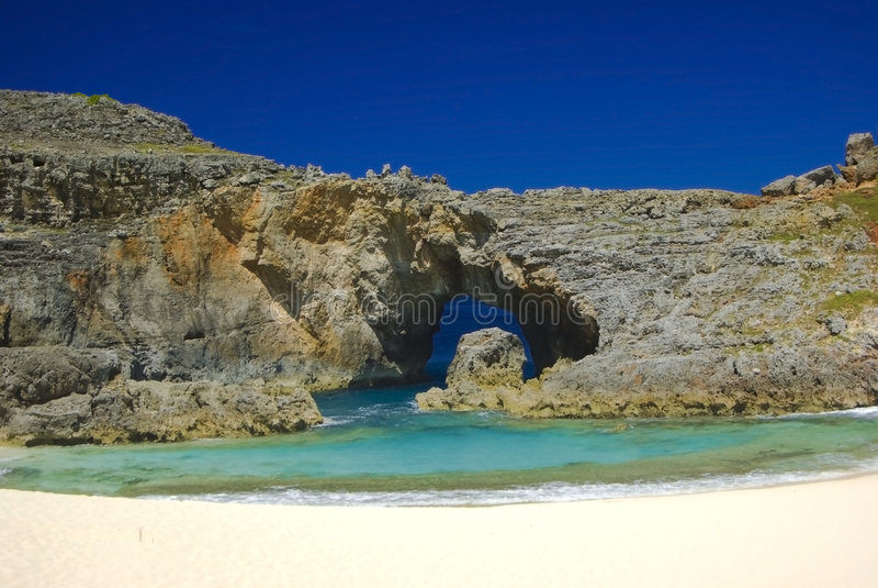 Beautiful South Island of Ogasawara royalty free stock images