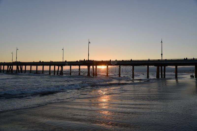 Beautiful Southern California Beach Sunset royalty free stock photography