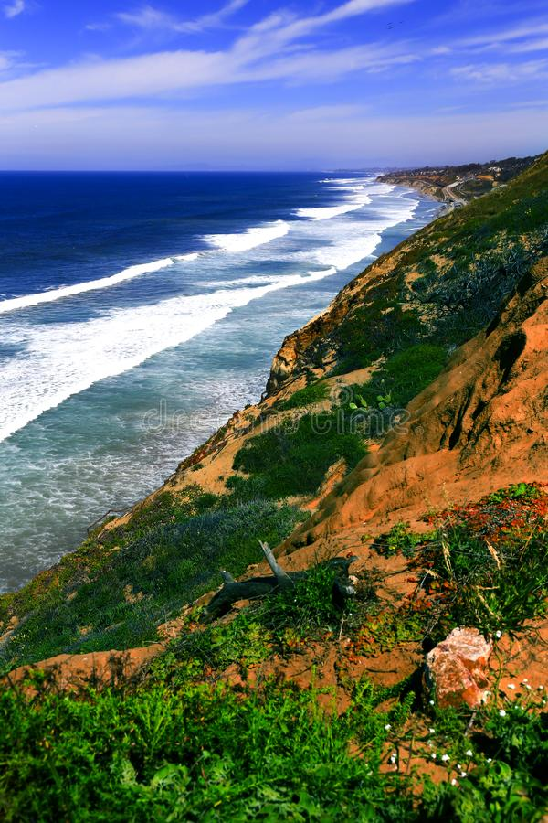 Beautiful Southern California Coast in Spring stock image