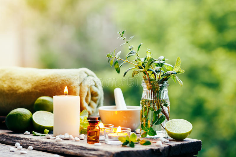 Beautiful spa composition royalty free stock photography