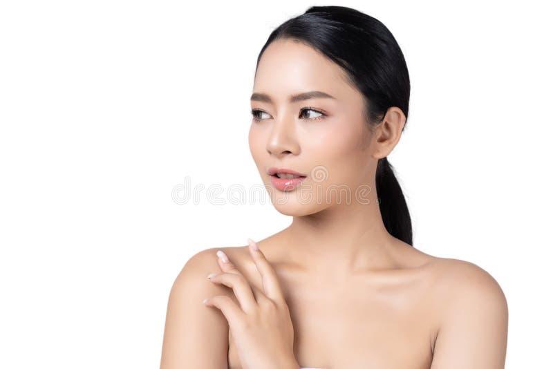 Mooie, jonge Aziatische vrouw met schone, perfecte huid Girl Wi royalty-vrije stock foto