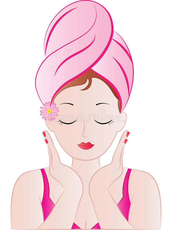 Beautiful spa meisjes vectorillustratie stock illustratie