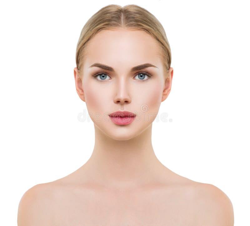 Beautiful spa model girl. Perfect fresh clean skin royalty free stock image