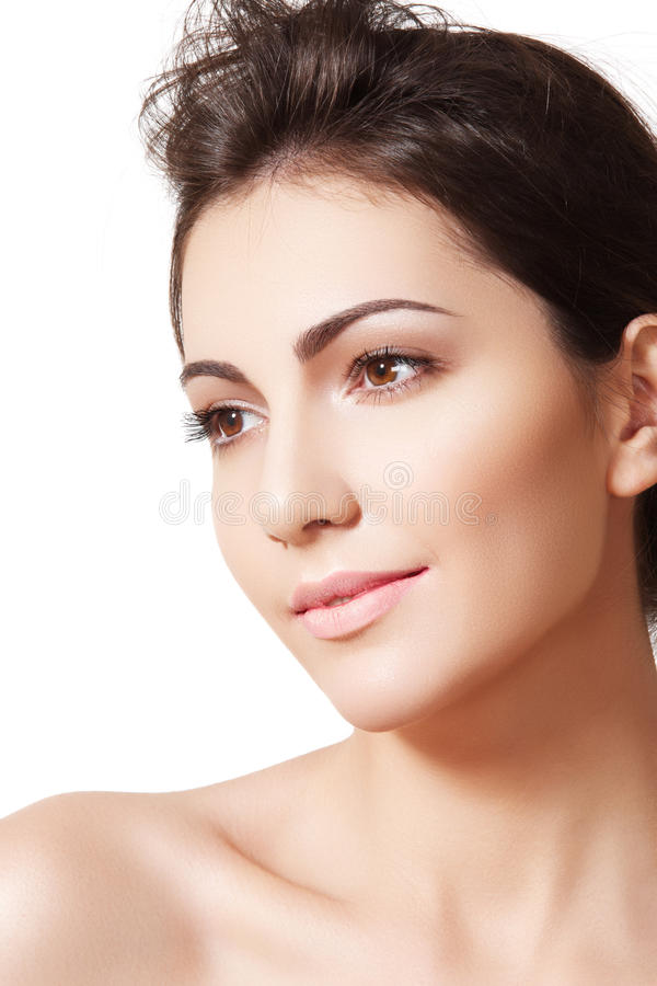 Beautiful spa model, skincare, wellness and health stock images