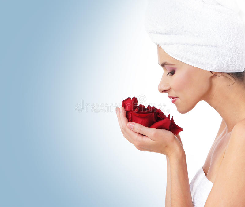 Beautiful Spa Portrait Of A Young Woman Stock Images