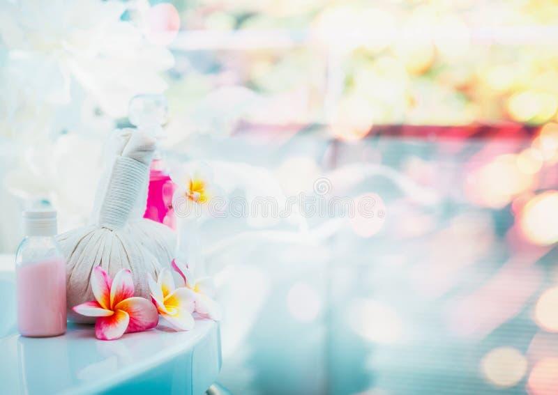 Beautiful spa of wellnessachtergrond voor Gezonde lichaamsverzorgingbehandelingen en schoonheidslandbouwbedrijven royalty-vrije stock afbeeldingen