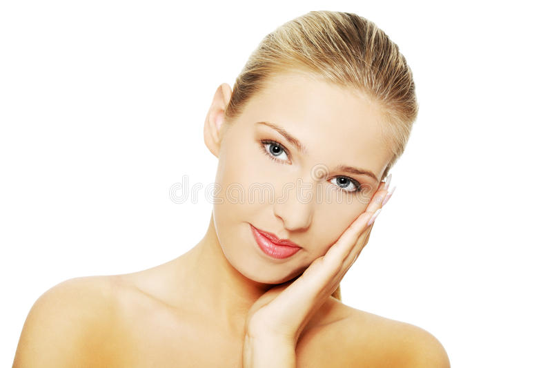 Beautiful spa woman stock photos