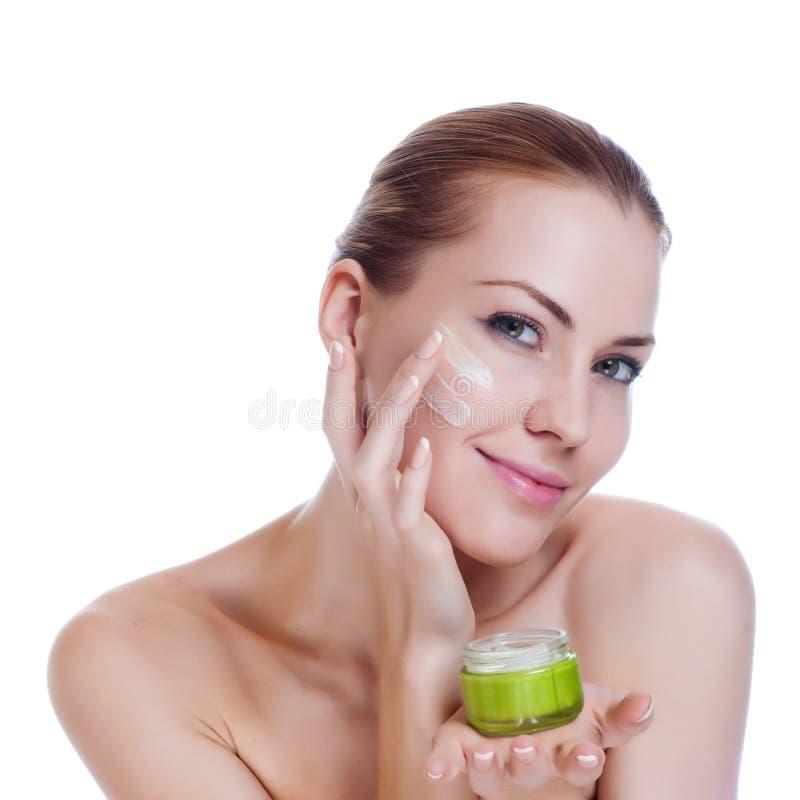 Beautiful Spa Woman Touching her Face