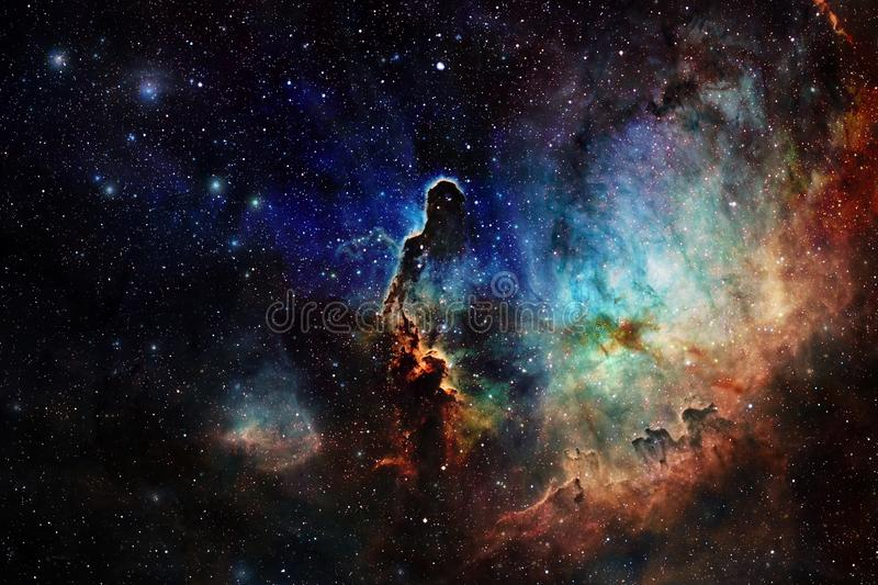 Beautiful space background. Cosmoc art. Elements of this image furnished by NASA.  vector illustration