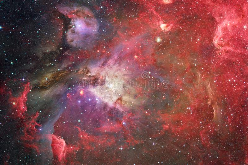 Beautiful space background. Cosmoc art. Elements of this image furnished by NASA.  royalty free illustration