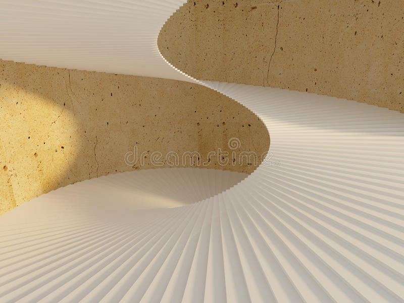 Download Beautiful spiral staircase stock illustration. Image of geometric - 23329463