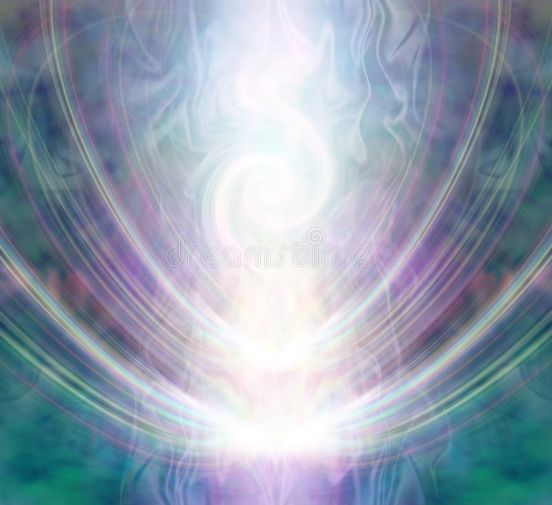 Beautiful Spiralling Vortex Healing Energy Field vector illustration