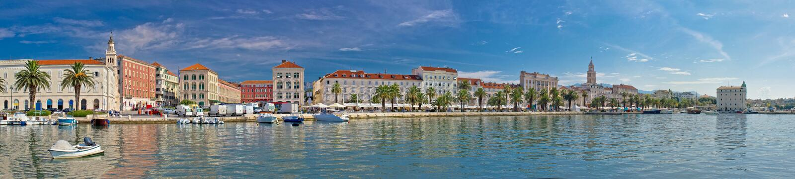 Beautiful Split panoramic waterfront view. Dalmatia, Croatia stock photography