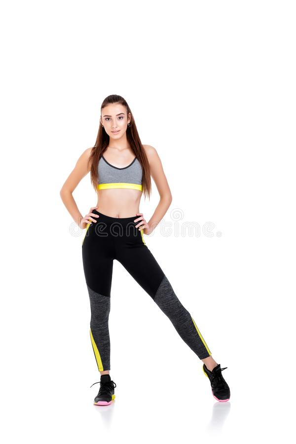 Woman in fitness clothes royalty free stock photos