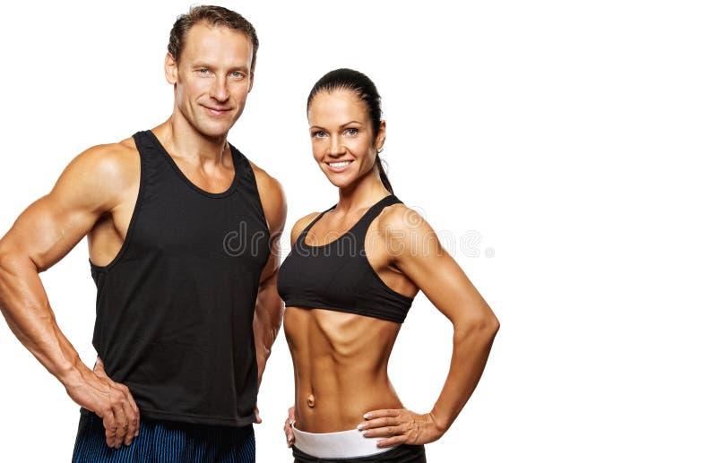 Beautiful sporty couple stock image