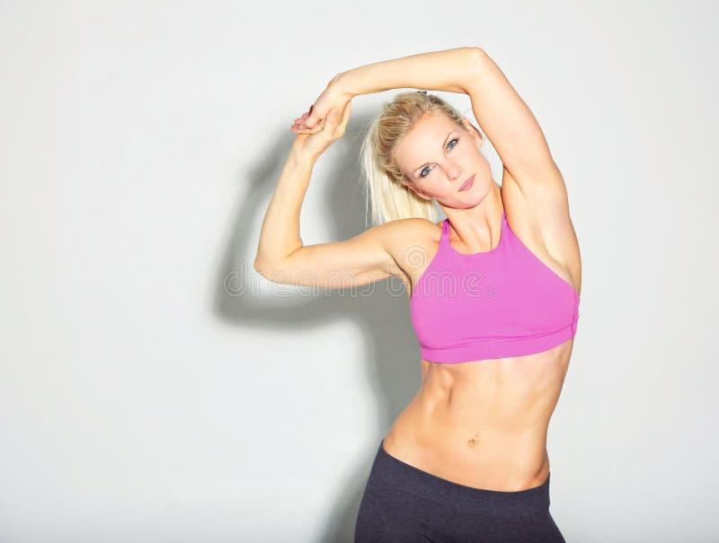 Beautiful Sporty Girl Stretching