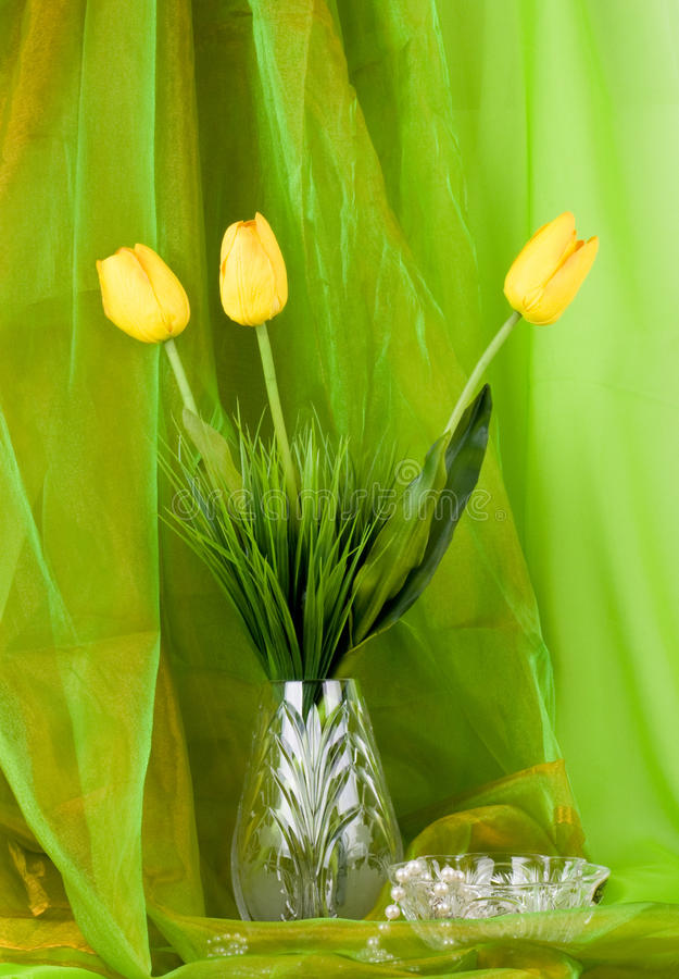 Beautiful Spring Flower In A Glass Vase Royalty Free Stock Images
