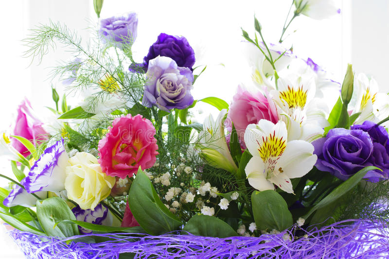 Beautiful spring flowers stock photo. Image of bouquet - 43021704