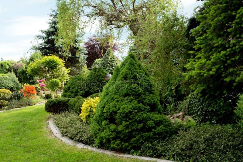 Beautiful spring garden design royalty free stock photos