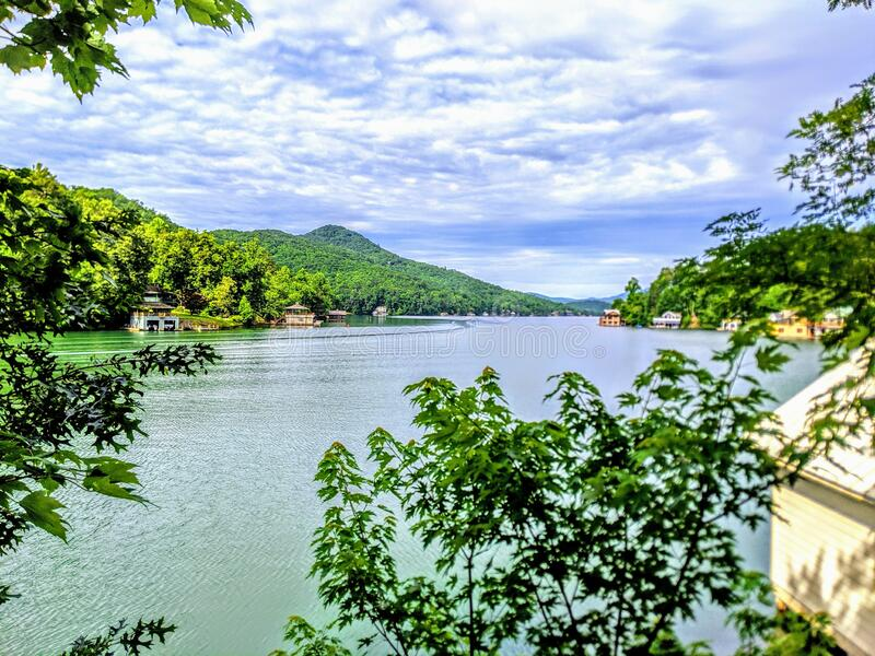 Beautiful Spring Lake View stock images