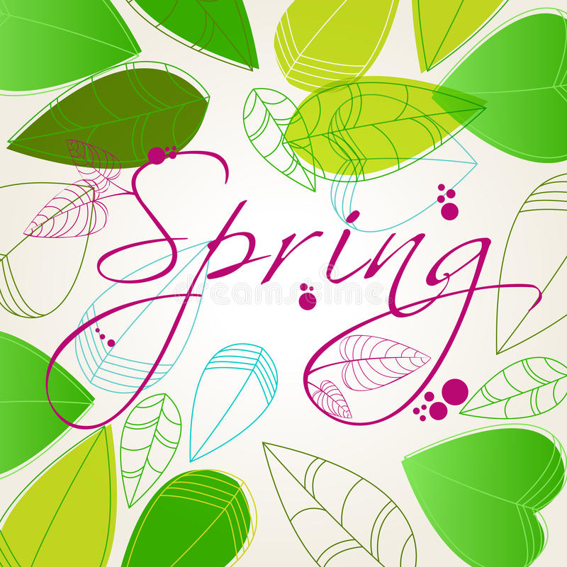 Download Beautiful spring leaves stock vector. Image of happy - 25659779