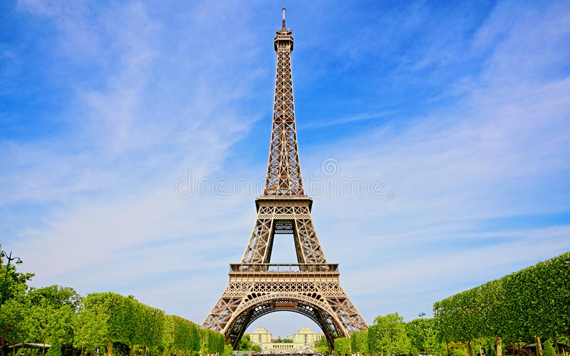 Beautiful Spring in Paris. Eiffel Tower royalty free stock photos