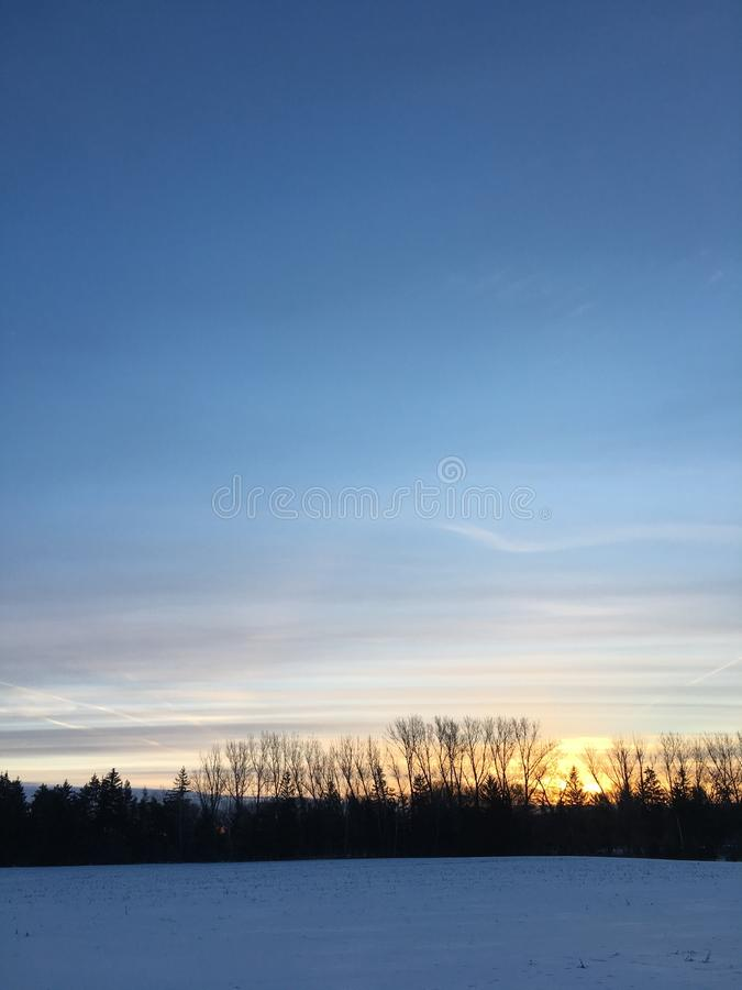 Spring Sunrise Over Farmers Field royalty free stock photos
