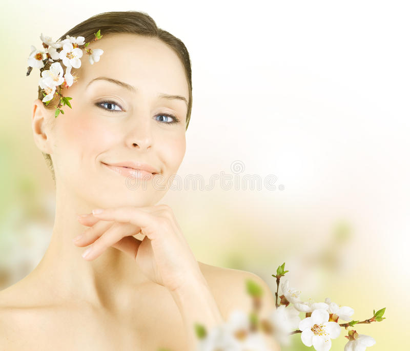 Beautiful Spring Woman royalty free stock photography