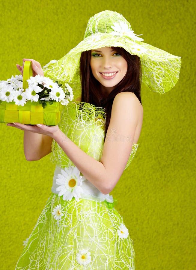 Beautiful spring woman royalty free stock photo