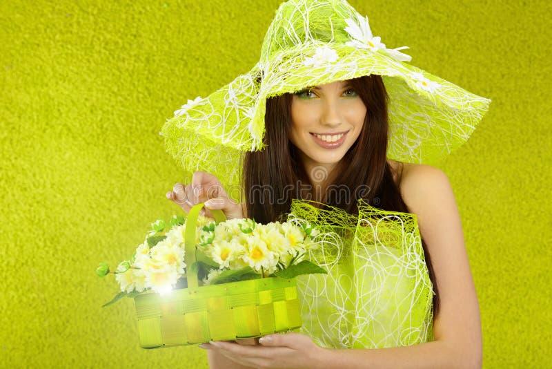 Beautiful spring woman