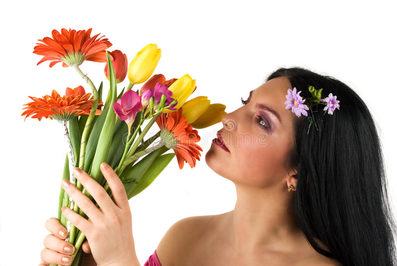 Download Beautiful spring woman stock image. Image of color, beautiful - 8636943