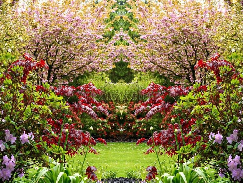 Beautiful springtime garden