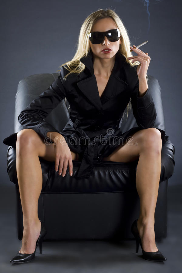 Download A beautiful spy lady stock photo. Image of lady, mystery - 12443698